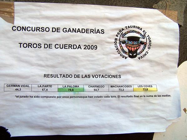 Concurso de ganaderías toros de cuerda 2009