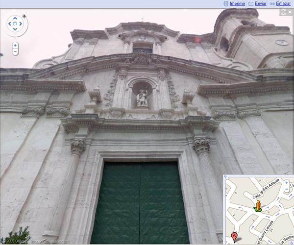 Iglesia de San Juan Bautista de Chiva en Google Street View