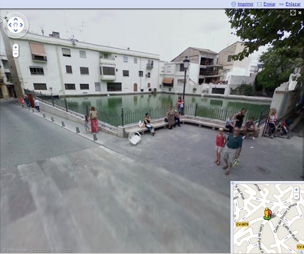 La balsa de Chiva vista por Street View de Google
