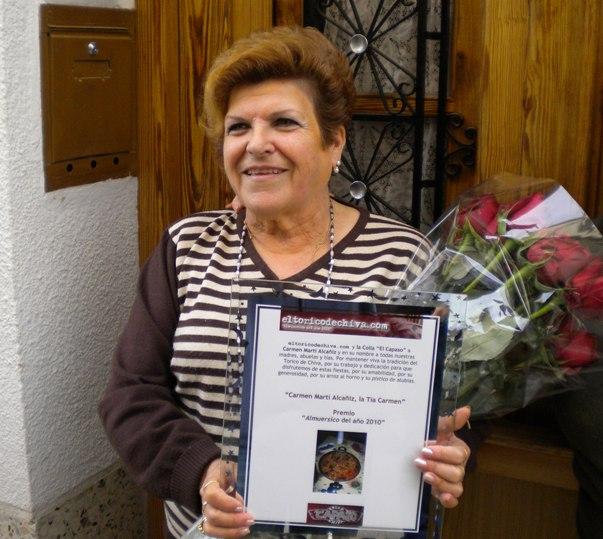 """Carmen Martí Alcañiz Premio """"Almuersico"""" del año 2010"""